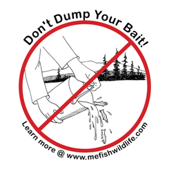 Don't dump your bait