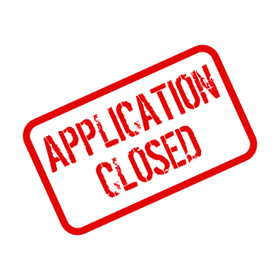 graphic that says application closed