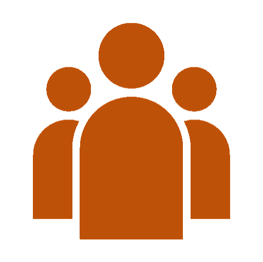 Icon representing a group of 3 people