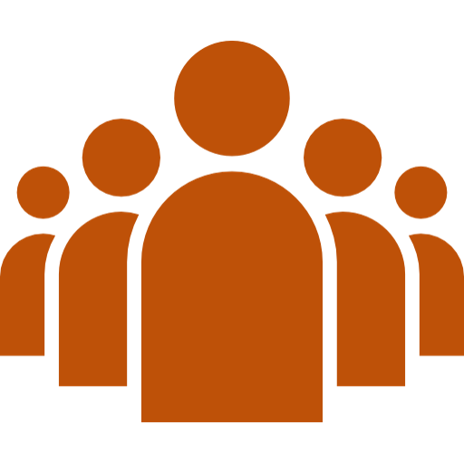 Icon representing a group of 5 people