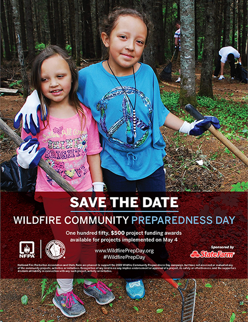 Wildfire Community Preparedness Day Save the Date Flyer