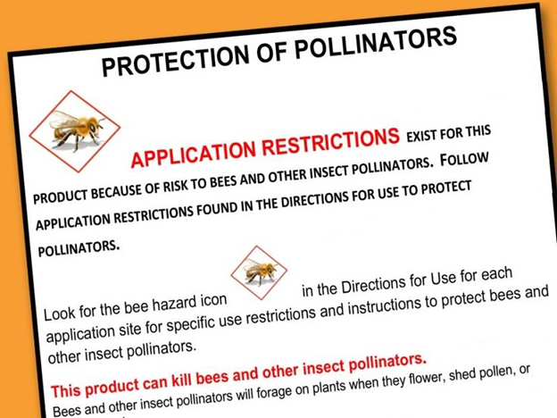 Image of Protection of Pollinators label