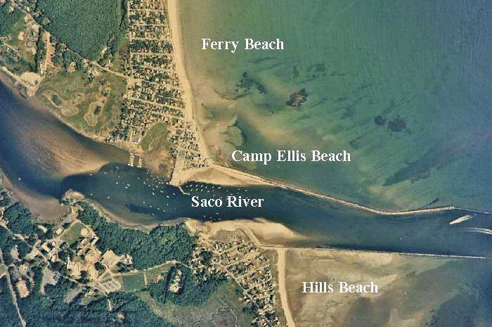 Air Photo Of Saco River Jetties