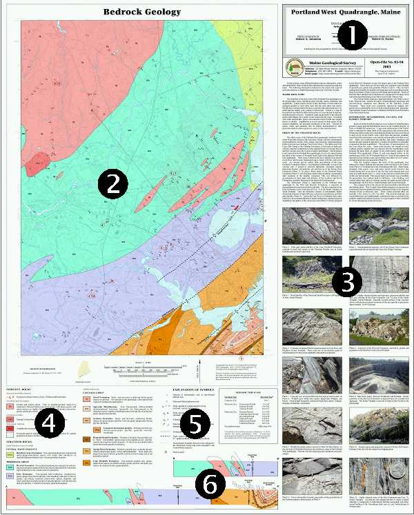 Maine Geological Survey Detailed Bedrock Geology Map Sample