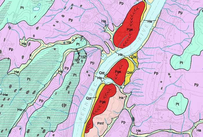 Maine Geological Survey Reading Surficial Geology Maps