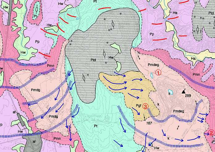 Geologic Map Of Maine.Maine Geological Survey Reading Surficial Geology Maps