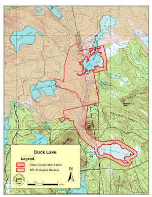Maine Natural Areas Program Ecoreserve Fact Sheet For Duck Lake - Duck lake map
