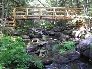 Ducktrap timber bridge