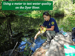 MCC Environmental Steward water testing water quality.