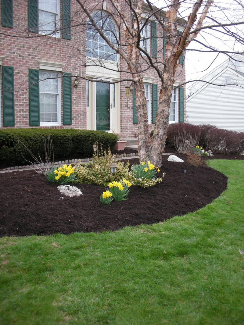 Stop weeds in flower beds -  Best Mulch For Flower Beds In Alabama Landscaping Backyards Ideas