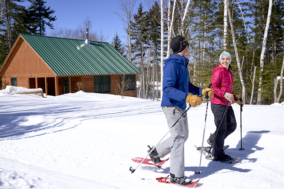 Snowshoeing at an AMC lodge in Maine
