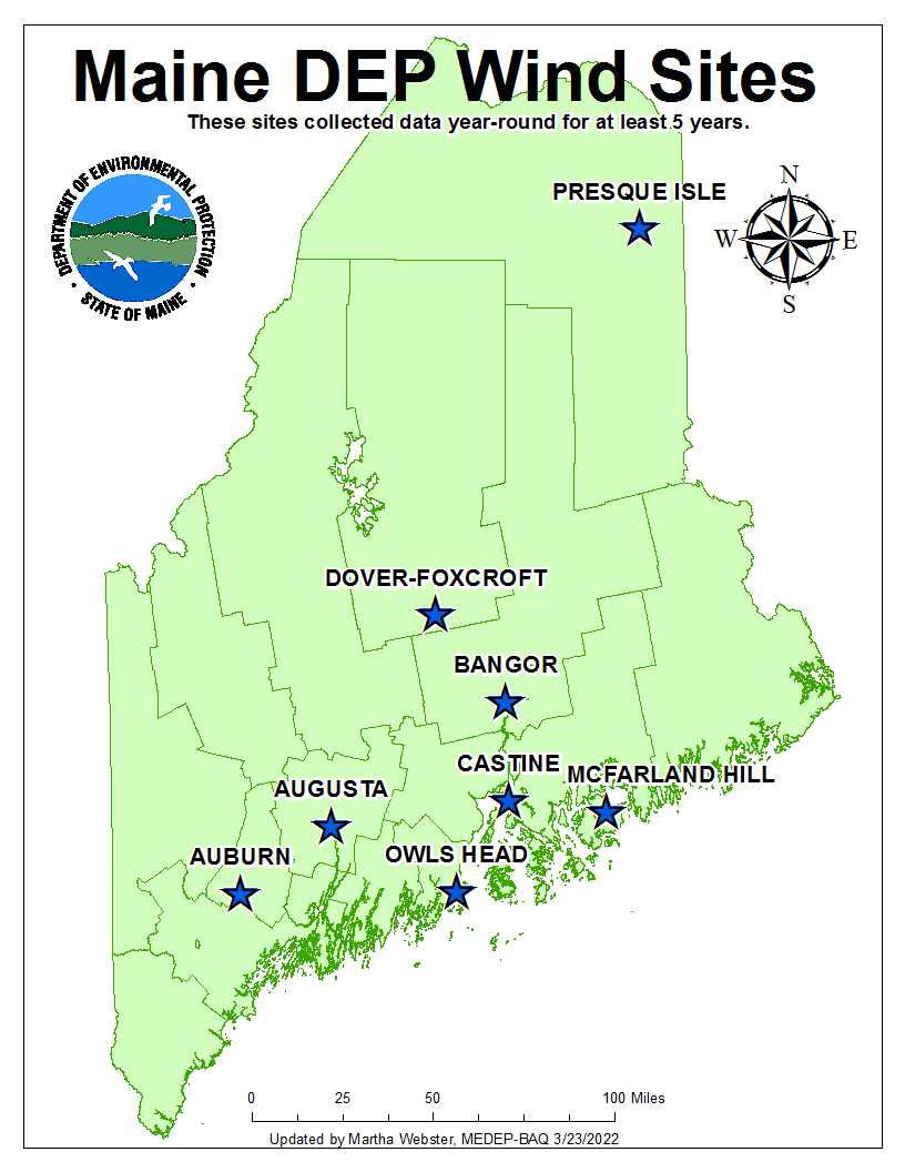Meteorology Wind Information, Air Quality, Maine DEP on