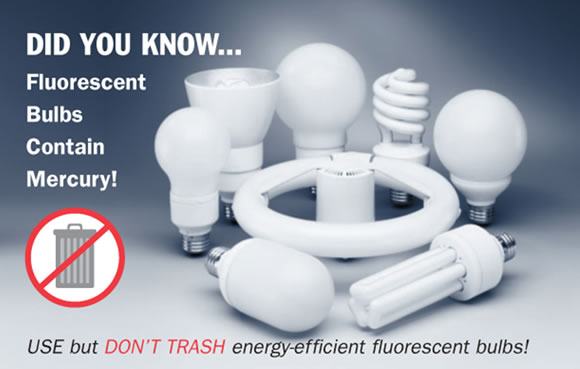 Fluorescent Bulb Disposal, Bureau of Remediation and Waste ...:did you know fluorescent bulbs contain mercury,Lighting