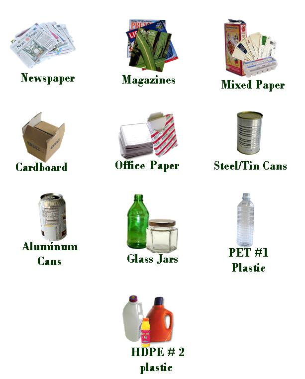 Products made from recycled materials list for Things can be made from waste material
