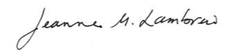 DHHS Commissioner Jeanne Lambrew signature
