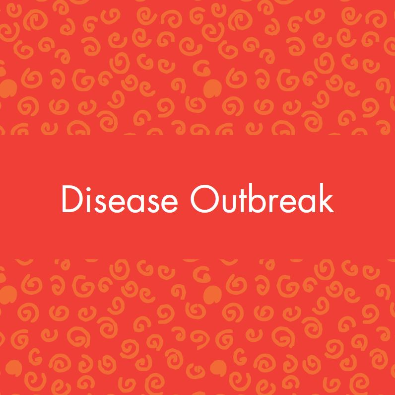 Disease outbreak vocabulary card