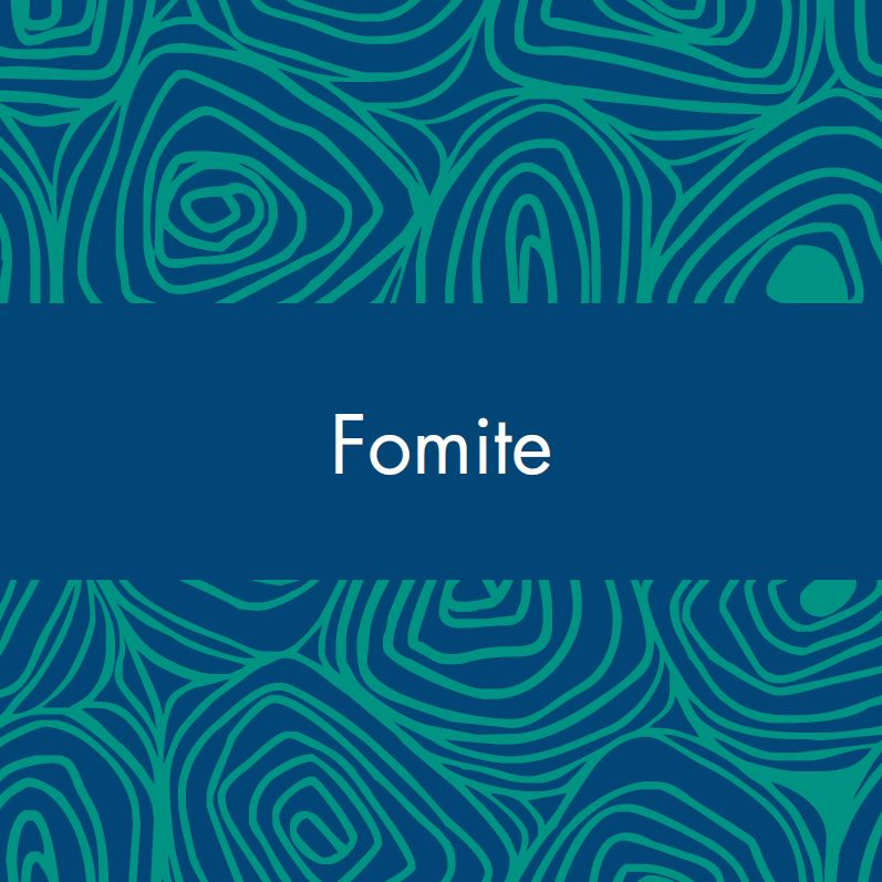 fomite vocabulary card