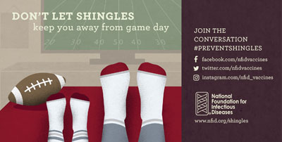 shingles sports infographic