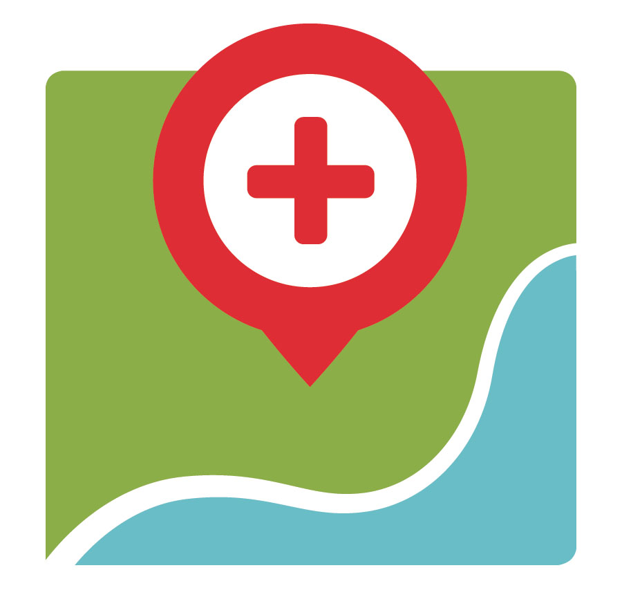 Health Map vaccine finder logo