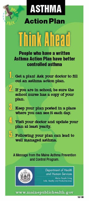 Asthma Action Plan Sample  Image Mag