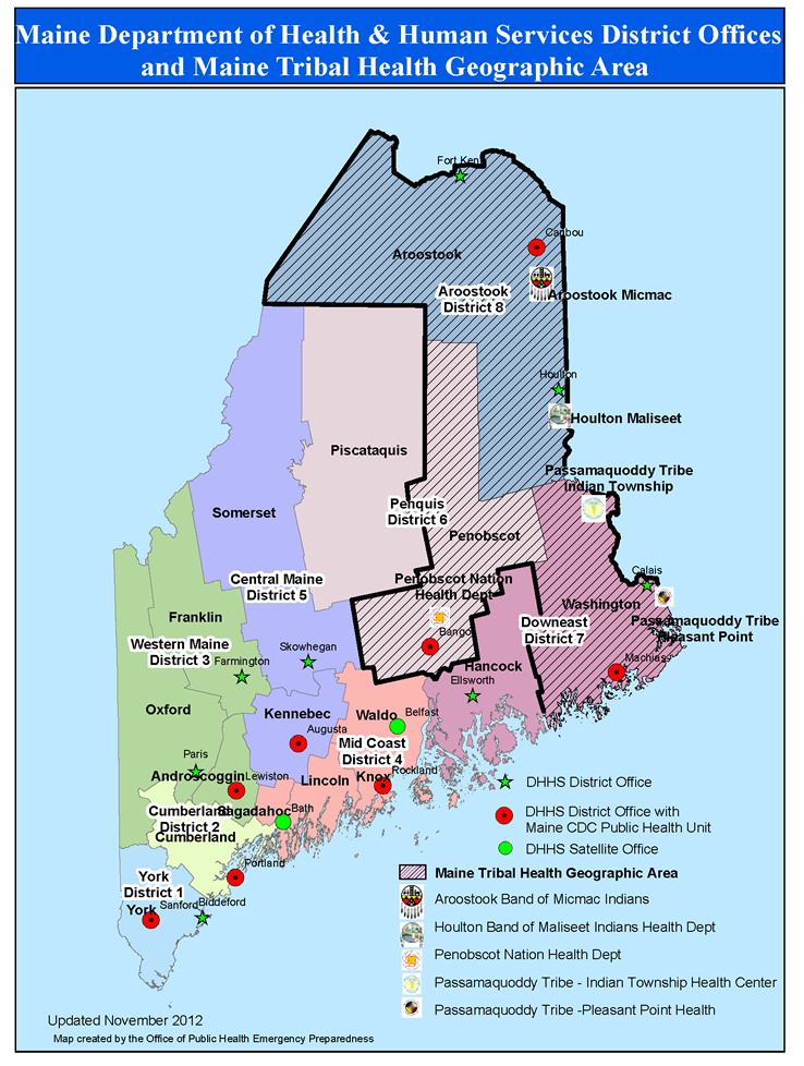 Districts - Division of Public Health Systems - Maine CDC ...
