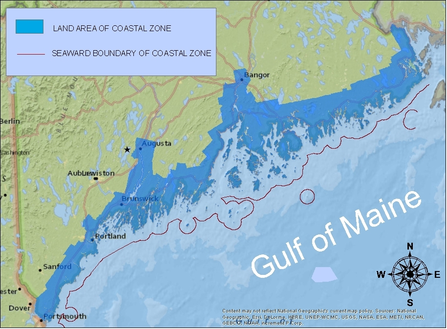 Maine coastal program coastal zone map maine dept of marine towns and townships in maines coastal zone sciox Gallery