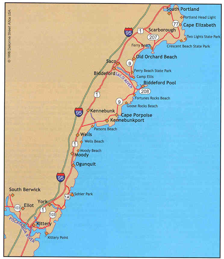 Ocean Park Maine Map.Where To Saltwater Fish In Western Maine Kittery To Cape Elizabeth