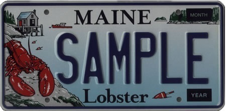 Lobster Specialty License Plate Maine Department Of