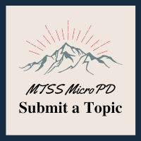 MTSS MicroPD submit a topic