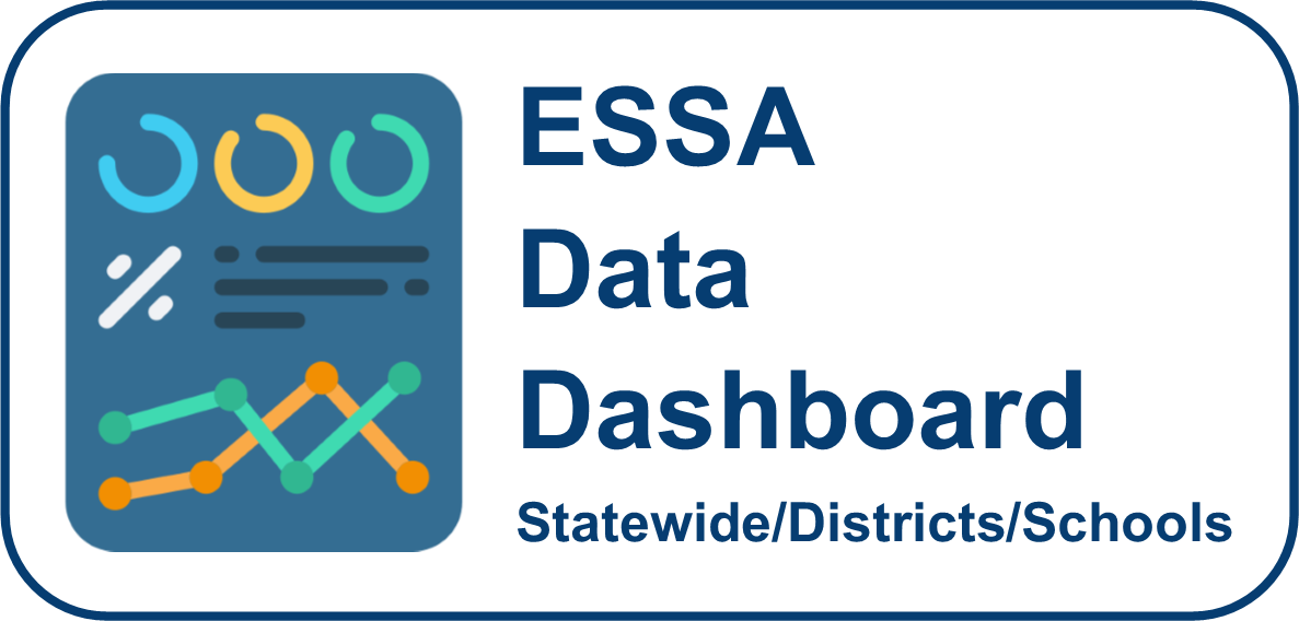 ESSA Data Dashboard for statewide, districts, and schools