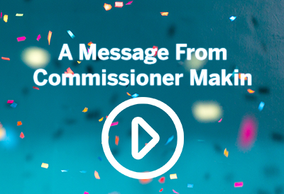 Message from Commissioner