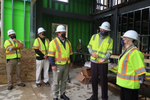 Governor Mills visits the Lincoln Mill complex