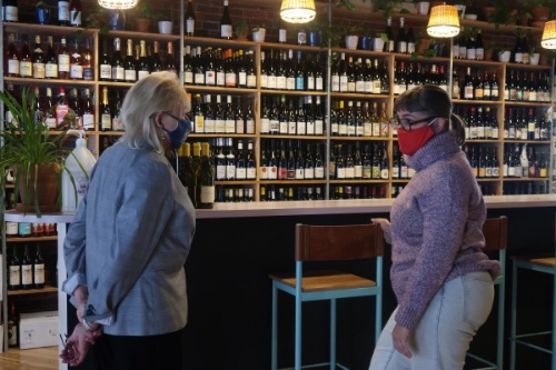Governor Mills visits Lorne Wine as part of her Main Street walking tour