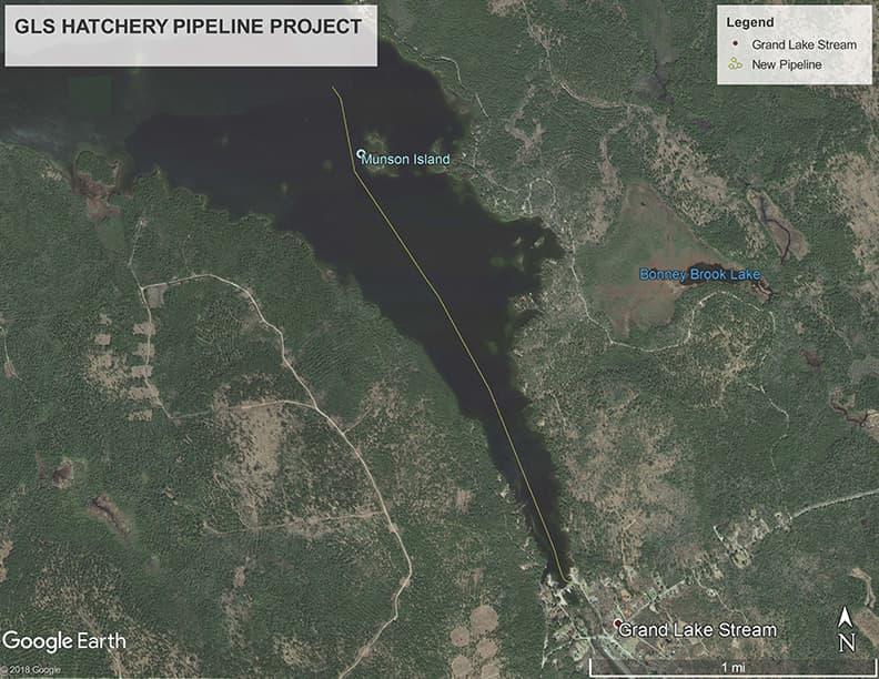Grand Lake Stream Maine Map.Grand Lake Stream Hatchery Pipeline Project Grand Lake Stream