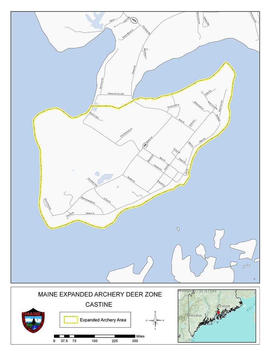 Expanded Archery Map for Castine