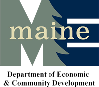 This is the Maine Department of Economic and Community Deverlopment logo.