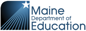 This is the Maine Department of Education's  logo.