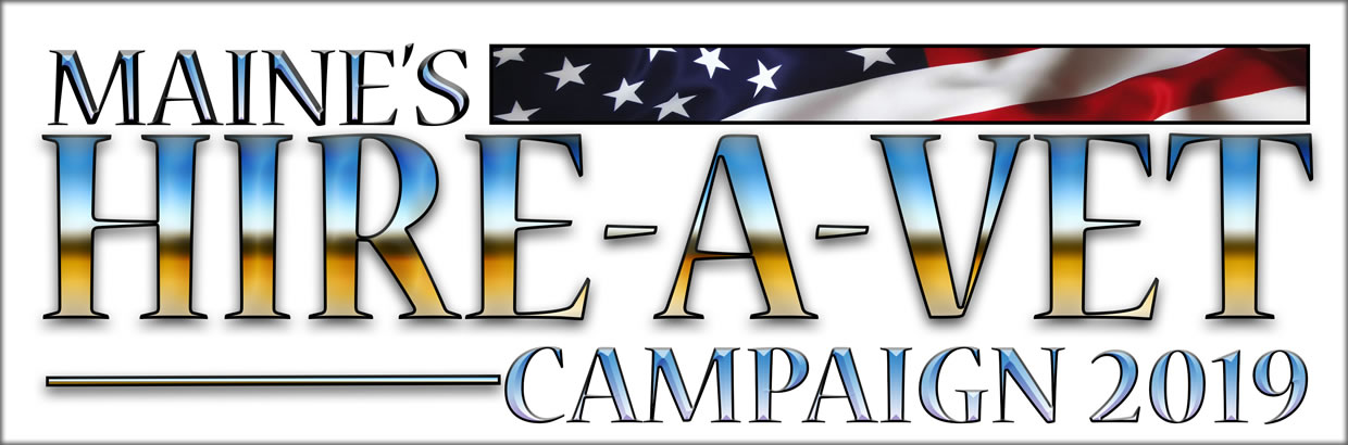 This is the logo for the 2019 Hire a Vet campaign.