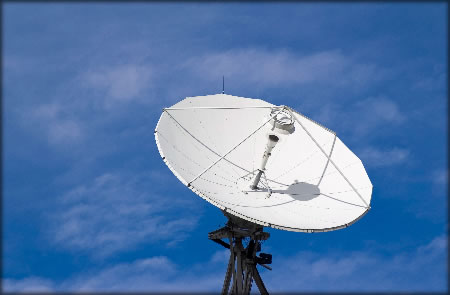 This is a picture of a sat dish