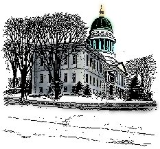 Colorized picture of the Maine State House