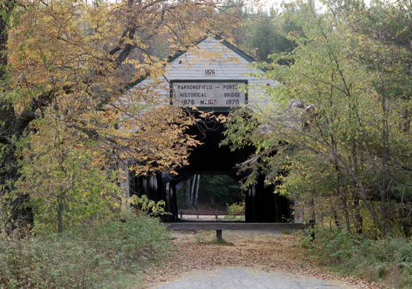 Parsonsfield Maine Map.Historic Covered Bridges Porter Parsonsfield Bridge Mainedot