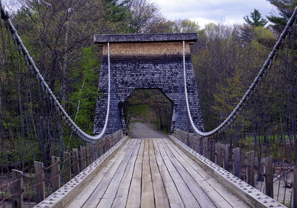 Other Historic Bridges Wire Bridge Mainedot