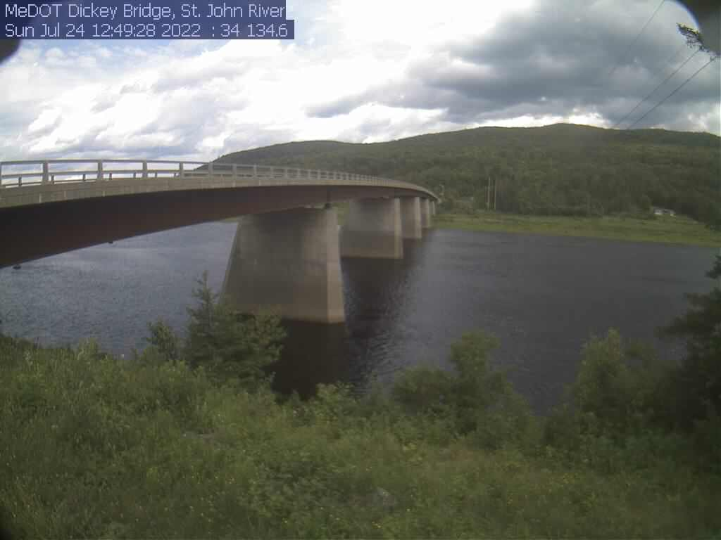 Recent image of the St. John River at Dickey.