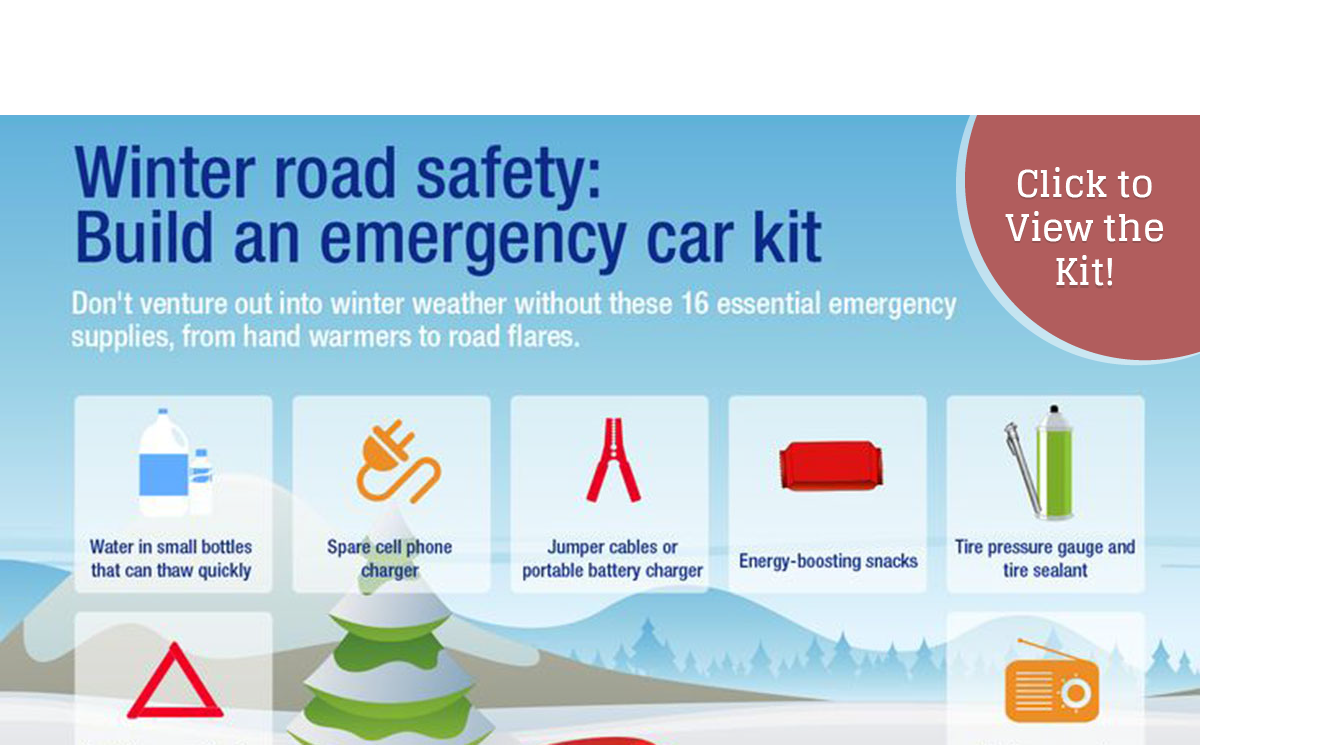 Winter Driving Car Safety Kit-click the magnifying glass in top corner of image to enlarge