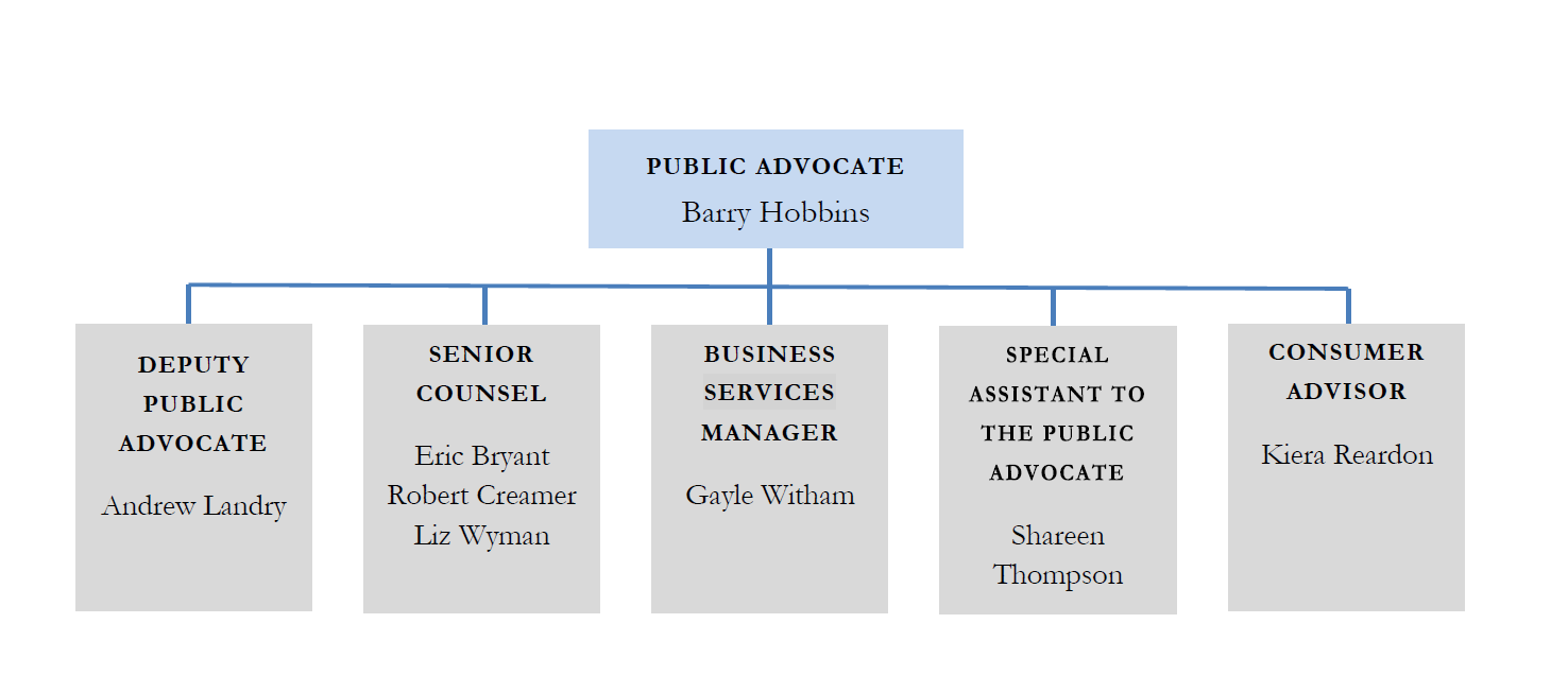 2019 maine office of the public advocate staff chart