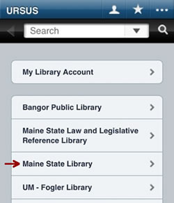 Maine State Library Mobile Catalog and Website