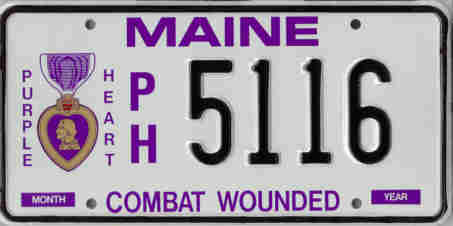 Image of the Purple Heart plate