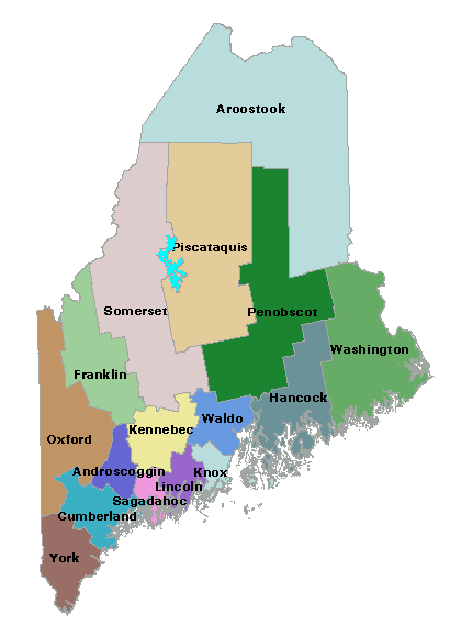 counties in maine map Maine Counties Maine Secretary Of State Kids Page counties in maine map