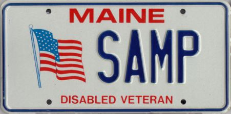 Image of the Disabled Veteran plate