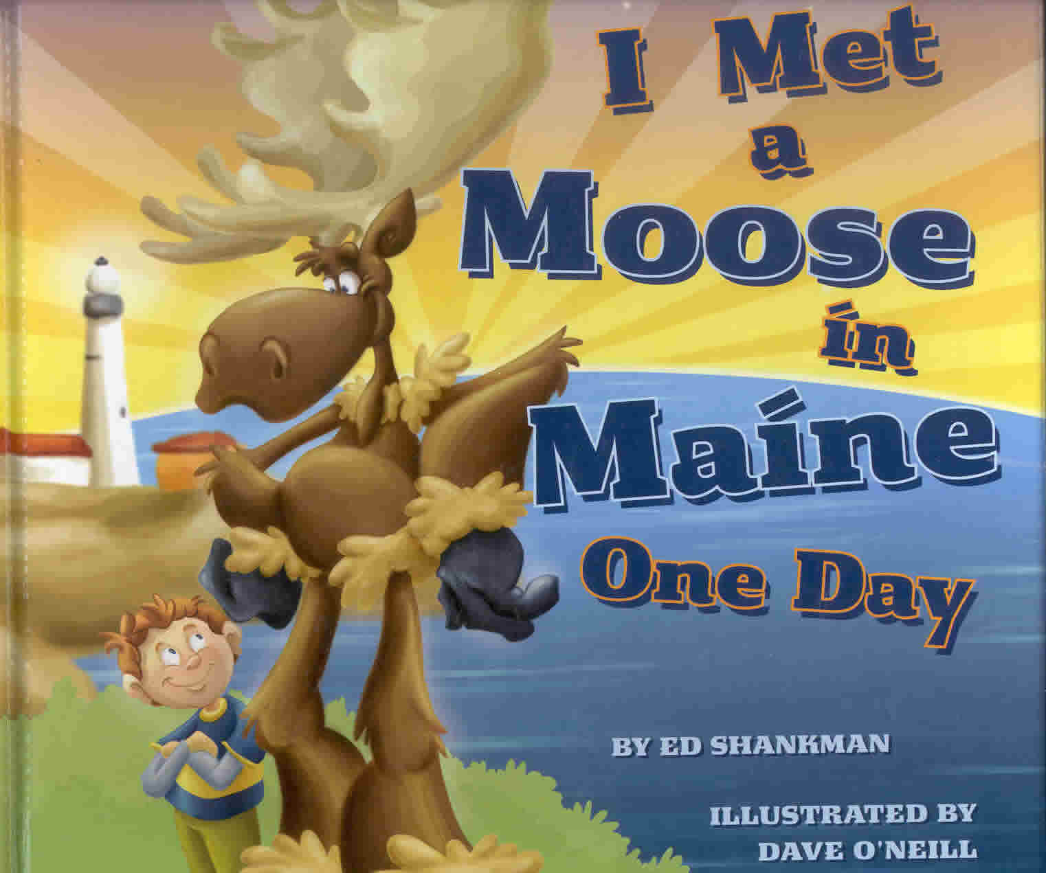 Image of the book cover I Met a Moose in Maine One Day
